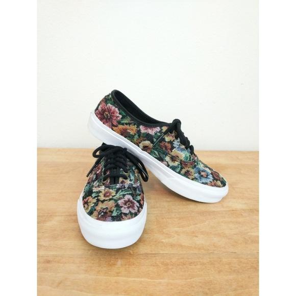 87ec98706d Vans Authentic Slim Unisex Floral Tapestry Shoes
